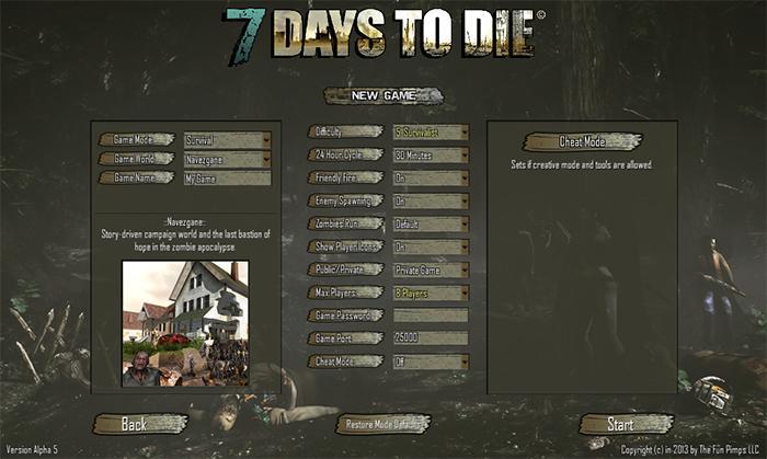 7 days to die alpha 5 скачать через торрент.