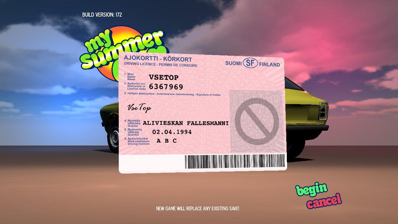 Скриншоты к My Summer Car v10.10.2018 - игра на стадии разработки