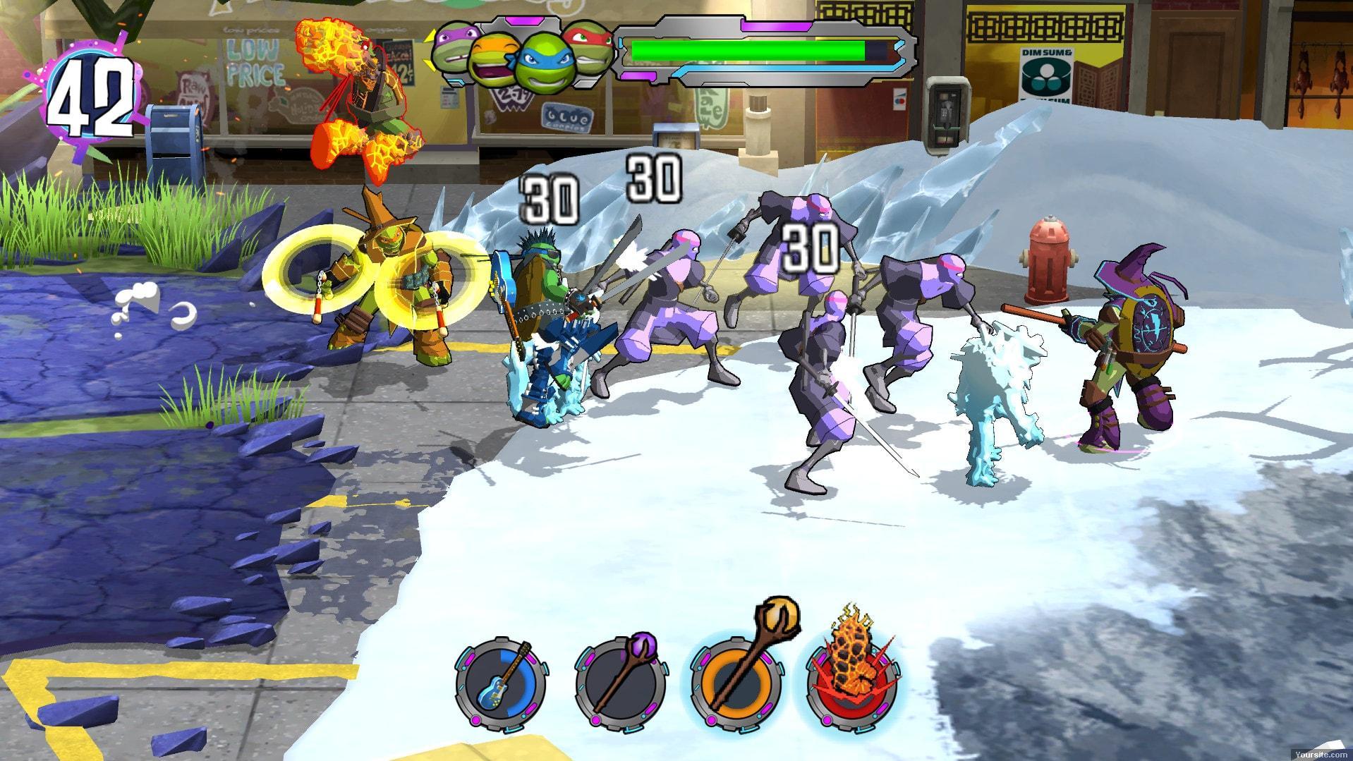 Скриншоты к Teenage Mutant Ninja Turtles: Portal Power v1.0 на русском