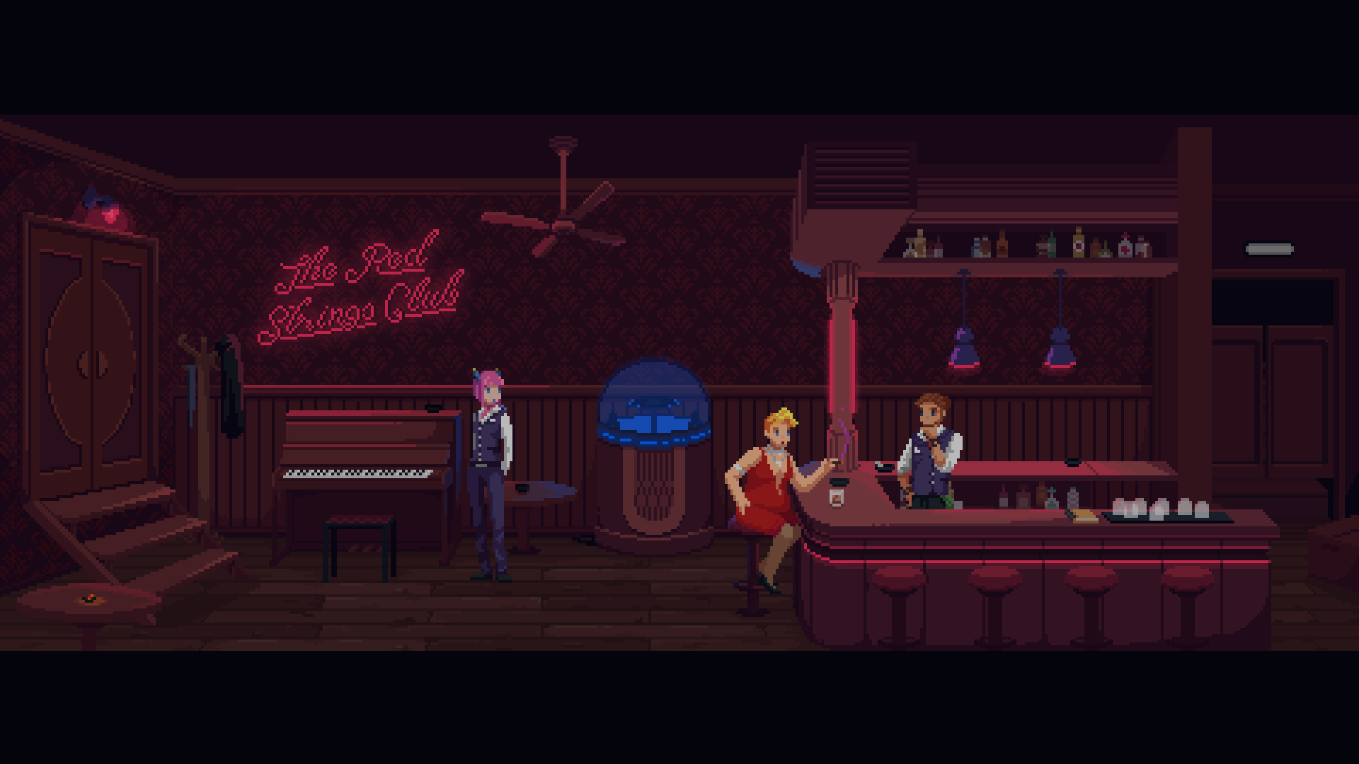 Скриншоты к The Red Strings Club (2018) на русском языке