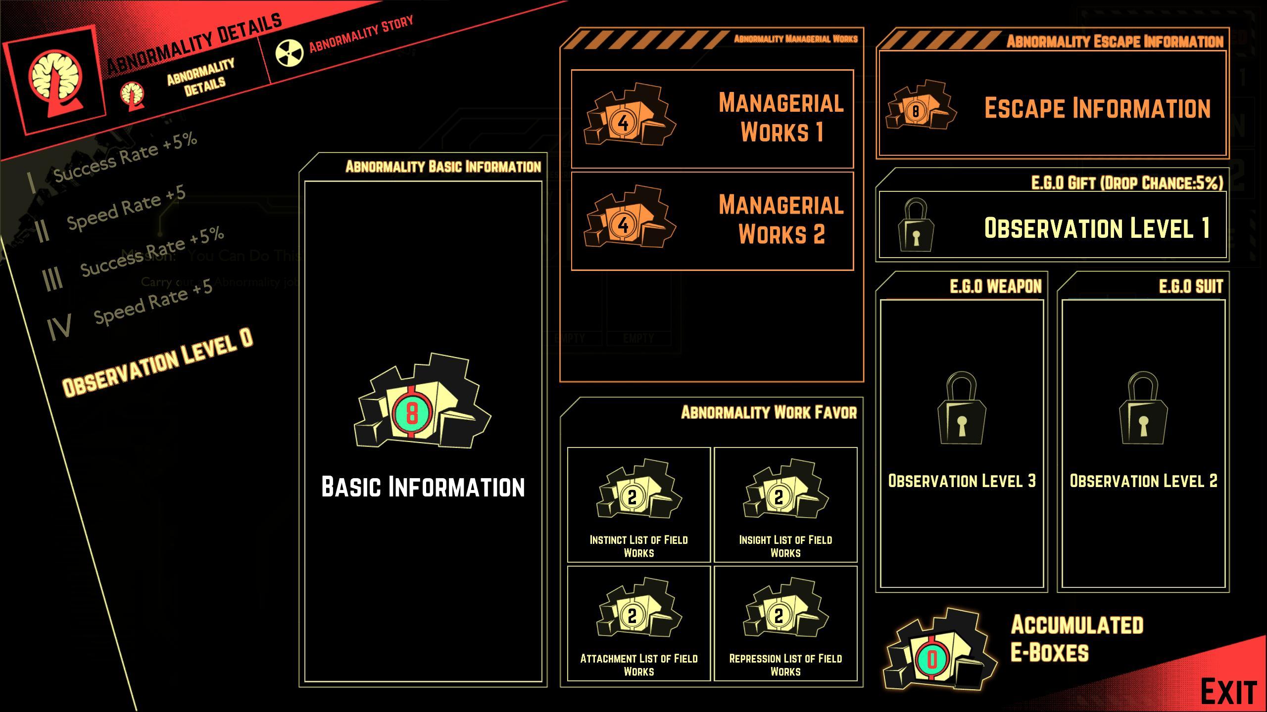 Скриншоты к Lobotomy Corporation v1.0.1.0a - на русском языке