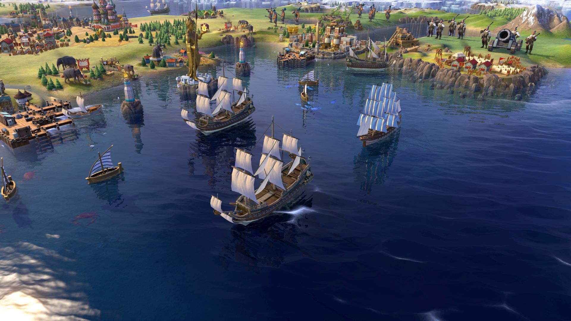Скриншоты к Sid Meier's Civilization VI [v1.0.0.216] Digital Deluxe + DLC Rise and Fall на русском