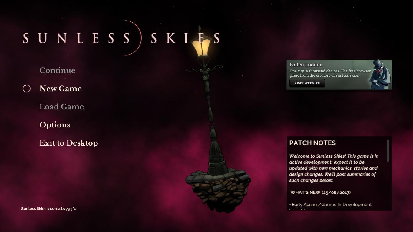 Скриншоты к Sunless Skies v1.0.8.4 - новая версия