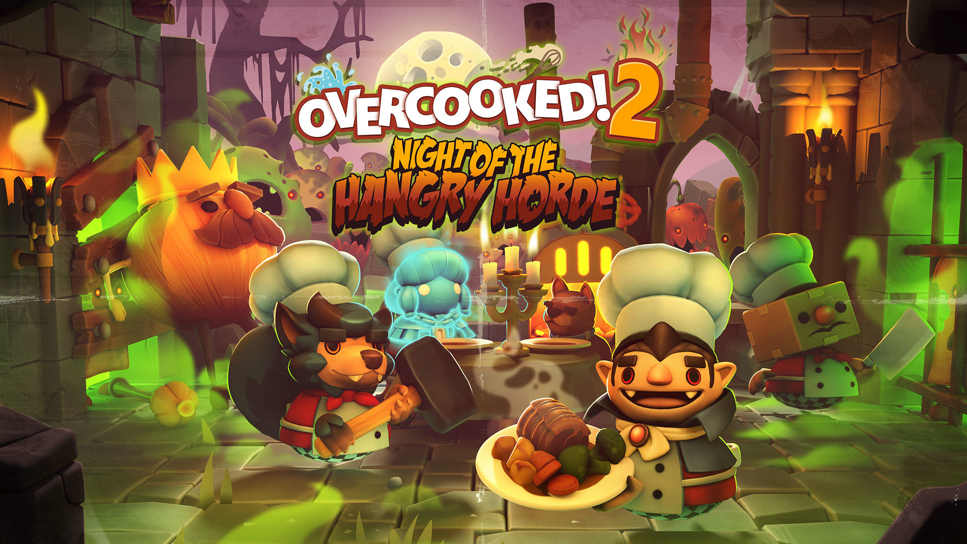 Overcooked 2 - Night of the Hangry Horde (2019) / Online - полная версия